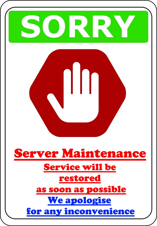 Server under maintenance
